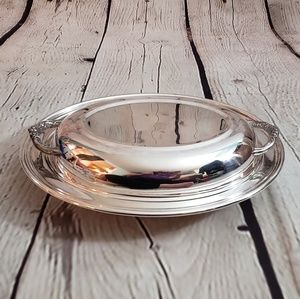Vintage Sheridan silver plated serving dish